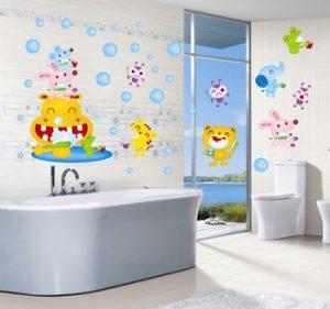 Плитка для детских ванных комнат в доме или в детском саду