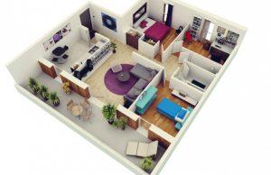 Как распланировать трехкомнатную квартиру?