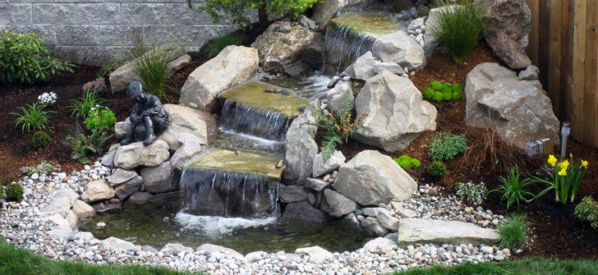Декоративные водопады для сада