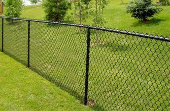 Недорогой забор из сетки Рабица